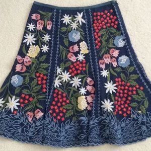 🆕 Fully Embroidered Fit-n-Flare Floral Skirt